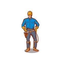 Lineman standing vector
