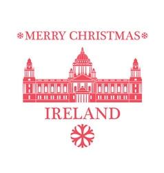 Merry Christmas Ireland vector image