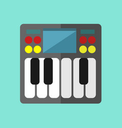 Mini synthesizer keyboard graphic vector