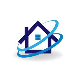 modern house icon vector image