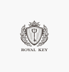 modern professional sign logo royal key vector image