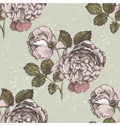 old style roses seamless vector image vector image