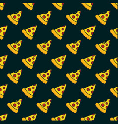 Pizza delivery fast food pattern vector