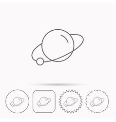 Planet icon World globe sign vector