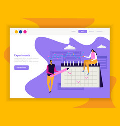 planning app landing page vector image