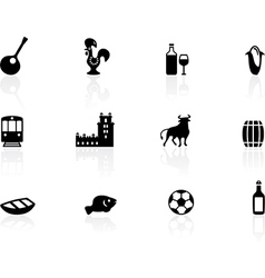 Portuguese icons vector