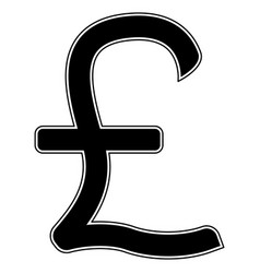 Pound sterling the black color icon vector