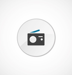 radio icon 2 colored vector image