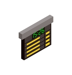Railway time table isometric icon vector