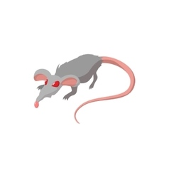 Rat with red eyes cartoon icon vector image