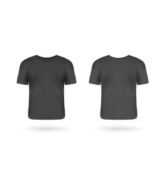 realistic man t-shirt mockup with front and back vector image
