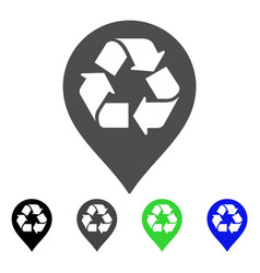 recycle map marker flat icon vector image