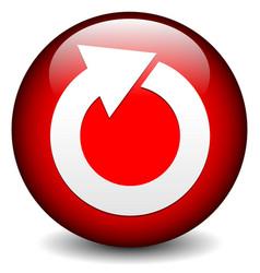 Red circular arrow icon vector
