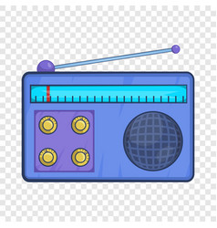 retro radio receiver icon in cartoon style vector image