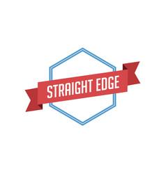Retro vintage badge label straight edge vector