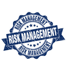 Risk management stamp sign seal vector
