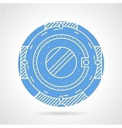 Scuba helmet round icon vector image
