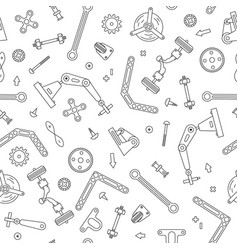 seamless pattern with the details and gears for vector image