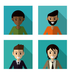 set character male smile vector image