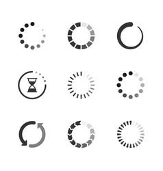 set icons loading progress vector image