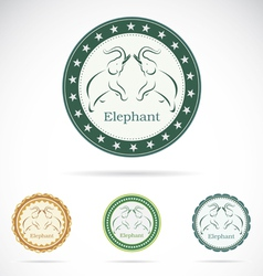 Set of elephant label vector