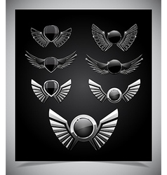 Set of emblemes vector image
