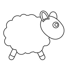 sheep toy icon outline style vector image