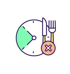 Skip meal rgb color icon vector
