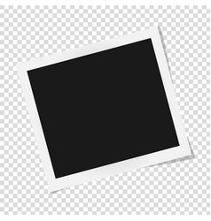 square frame template with shadows isolated on vector image