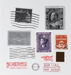stamps vector image