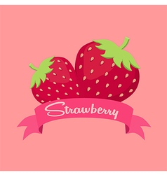 Strawberry Fruit Banner vector image