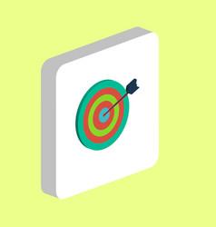 target computer symbol vector image