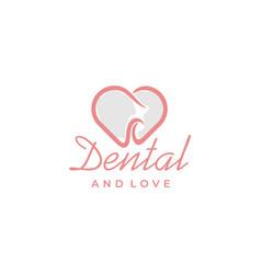 tooth teeth dentist dental dentistry heart love vector image
