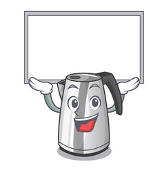 Up board electric stainless steel kettle on vector