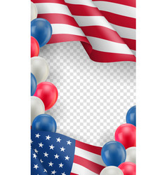 Usa country patriotic horizontal flyer vector