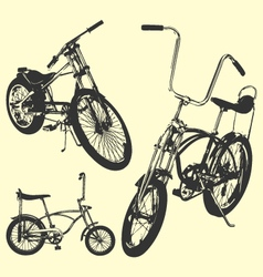 Vintage bicycle vector image