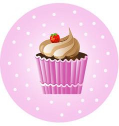 Vintage cupcake poster vector