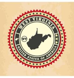 Vintage label-sticker cards of West Virginia vector
