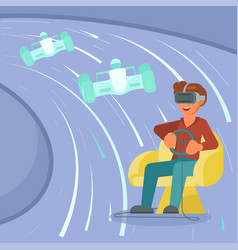 virtual reality game concept vector image