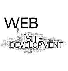 web development services text word cloud concept vector image