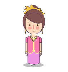 west nusa tenggara province wedding couple cute vector image