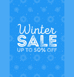 Winter sale poster design template or background vector