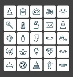 Year icons set collection of japan souvenir vector