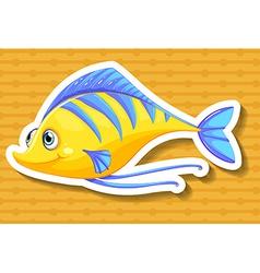 Yellow fish vector image