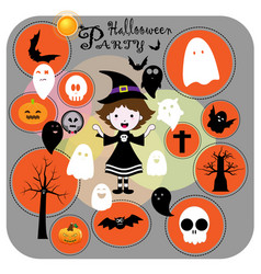 cute halloween party vector image