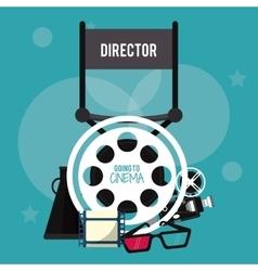 director chair movie film cinema icon vector image vector image