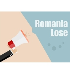 Romania lose Flat design business vector image