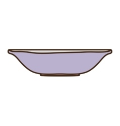 Silhouette colorful with empty bowl vector