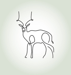 Antelope gazelle in minimal line style vector image