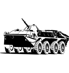 armored troop carrier vector image vector image
